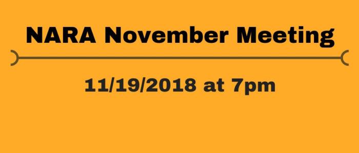 NARA November Meeting